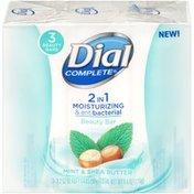 Dial Complete 2 in 1 Moisturizing & Antibacterial Beauty Bar, Mint & Shea Butter