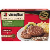 Jimmy Dean Fully Cooked Turkey Sausage Patties, 24 Count