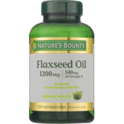 Nature's Bounty Flaxseed Oil 1200mg Rapid Release Softgels - 125 CT