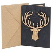 Hallmark Signature Birthday Card (No. 13) (Deer Head)