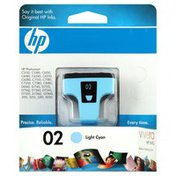 Hewlett Packard Ink Cartridge, Light Cyan 02