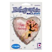 Betallic Holographic Balloon Happy Anniversary