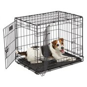 """Mid-West Metal Products 24"""" x 18"""" Icrate Double Door Folding Dog Crate"""
