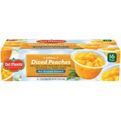 Del Monte California Diced Yellow Cling Peaches in Water No Sugar Added Fruit Cup Snacks