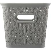 Whitmor Resin Form Half Basket, Flint Gray