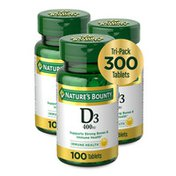 Nature's Bounty Vitamin D3 400 Tablets
