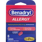 Benadryl Allergy, 25 mg, Tablets