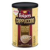 Folgers Cappuccino Mocha Chocolate Instant Coffee Beverage Mix