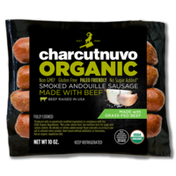 Charcutnuvo Organic Smoked Andouille Sausage Made With Grass-Fed Beef