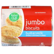 Food Club Buttermilk Flavored Jumbo Biscuits