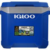 Igloo Cooler, Latitude 60 Roller, Sapphire/Gray, 60 Quart