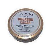 Olivina Bourbon Cedar Natural Fragrance Solid Cologne for Men