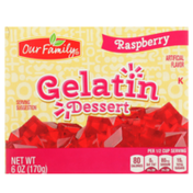 Our Family Raspberry Gelatin Dessert