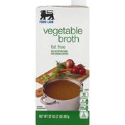 Food Lion Broth, Fat Free, Vegetable
