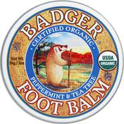 Badger Foot Balm, Peppermint & Tea Tree