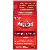 MegaRed Heart Health Omega-3 Krill Oil 350mg Softgels Dietary Supplement