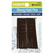 Conair Pins, Strong Hold, Brown, Style Essentials, Card