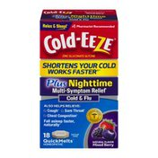 Cold-Eeze Plus Nighttime Multi-symptom Relief Cold & Flu Quick Melts Mixed Berry - 18 CT