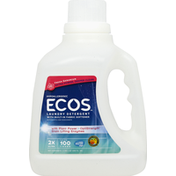 ECOS Laundry Detergent, HE, 2x Ultra, Fresh Geranium, Hypoallergenic