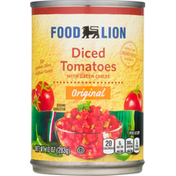 Food Lion Tomatoes, Original, Diced, with Green Chiles