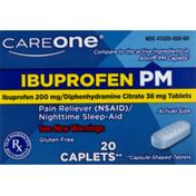 CareOne Ibuprofen PM Caplets 200mg