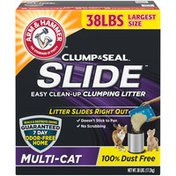 Arm & Hammer Clump & Seal Slide Multi-Cat Easy Clean-Up Clumping Litter