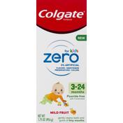 Colgate Toothpaste, for Kids, Mild Fruit, 3-24 Months