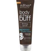 Alba Botanica Body in the Buff Firming Scrub Espresso & Coffee Beans