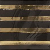 Touch of Color Napkins, Black Velvet, Foil Stamp, 3 Ply
