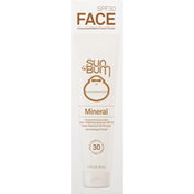 Sun Bum Sunscreen Lotion, Face, Mineral, SPF 30