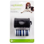 So Phresh Pick It Up Black Dog Bag Dispenser With Refill