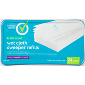 Simply Done Wet Cloth Sweeper Refills, Fresh