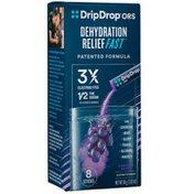 DripDrop ORS Concord Grape Electrolyte Powder Packs