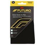 3M Futuro Revitalizing Dress Socks for Men Black Large Firm
