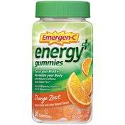 Emergen-C Energy Plus Orange Zest Gummies