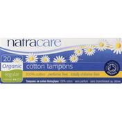 Natracare Tampons, Cotton, Organic, Regular, Normal