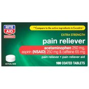 Rite Aid Pain Reliever/Pain Reliever Aid, Headache Formula, Extra Strength, Coated Tablets