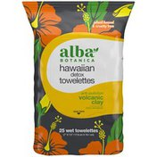 Alba Botanica Volcanic Clay Hawaiian Detox Wet Towelettes