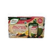 Simply Nature Fruit Punch Organic Coconut Water Pouches