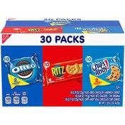 RITZ Cookies & Cracker Variety Pack, Oreo, Ritz & Chips Ahoy!, 30 Snack Packs