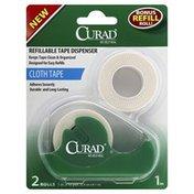 CURAD Tape Dispenser, Refillable, Cloth Tape
