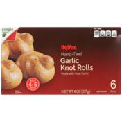 Hy-Vee Garlic Hand-Tied Knot Rolls
