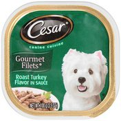 CESAR Gourmet Filets Roast Turkey Flavor in Sauce Wet Dog Food