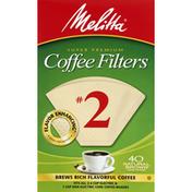 Melitta Coffee Filters, Super Premium, No. 2