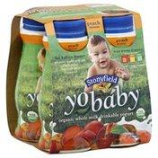 Yo Baby Drinkable Yogurt, Organic, Whole Milk, Peach