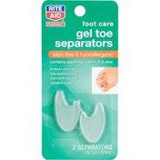Rite Aid Foot Care Gel Toe Separators, 2 Count