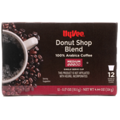 Hy-Vee Medium Roast Donut Shop Blend 100% Arabica Coffee Single Serve Cups