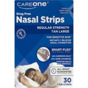 CareOne Drug Free Nasal Strips Regular Strength Tan