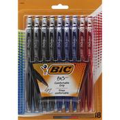 BiC Ball Pens, Comfortable Grip, Assorted Ink, Medium