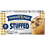 Odom's Tennessee Pride Sausage Egg And Cheddar Cheese Stuffed Biscuit